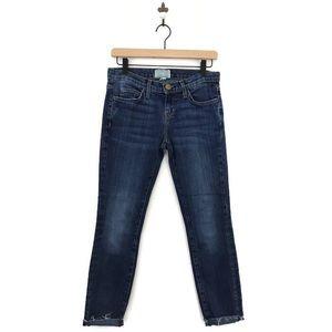 Current/Elliott Ankle Skinny Jeans Raw Hem 26/0